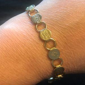 Vintage Sarah Coventry Floral Gold Bracelet